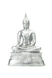 在白色的菩萨雕象 库存图片