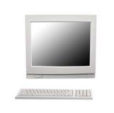 在白色的葡萄酒台式计算机 库存图片