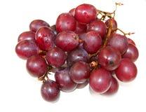 在白色的葡萄 库存照片