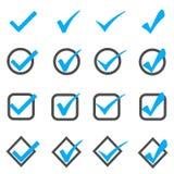 在白色的蓝色按钮 库存照片