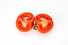 在白色的蕃茄 库存图片