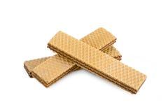 在白色的薄酥饼 免版税库存照片