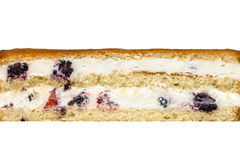 在白色的蛋糕纹理 免版税库存照片