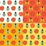 在白色的蜂蜜无缝的纹理 库存例证