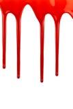 在白色的血液水滴 免版税库存照片
