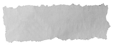 在白色的被撕毁的纸 免版税图库摄影