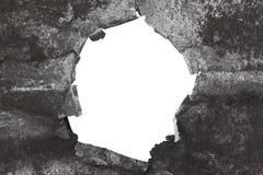 在白色的被撕毁的金属背景 免版税图库摄影