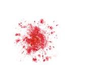 在白色的被隔绝的血迹 免版税图库摄影