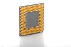 在白色的计算机CPU 库存图片