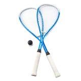 在白色的软式墙网球 免版税库存照片