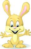 在白色的逗人喜爱的婴孩兔宝宝动画片 免版税图库摄影