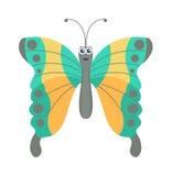 在白色的逗人喜爱的蝴蝶传染媒介 向量例证