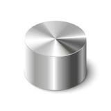 在白色的金属圆筒 库存例证