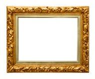 在白色的金黄框架 库存图片