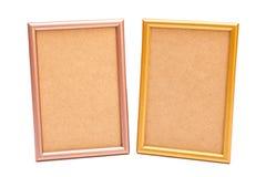 在白色的金黄和银色框架 免版税图库摄影