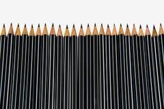 在白色的铅笔 库存照片