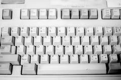 在白色的键盘 免版税库存图片