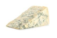 在白色的青纹干酪 免版税库存照片