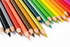 在白色的颜色铅笔 库存图片