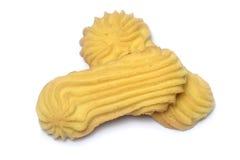 在白色的黄油曲奇饼 免版税库存图片