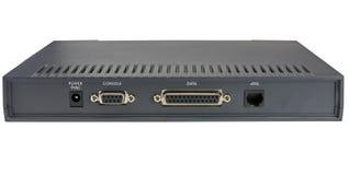 在白色的ADSL调制解调器 库存照片
