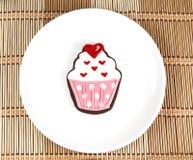 甜杯形蛋糕曲奇饼 免版税库存照片