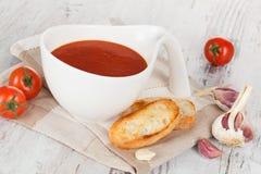 可口蕃茄汤。 免版税库存照片