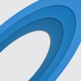 在白色空间的蓝色曲线圈子圆环 向量背景 免版税库存图片