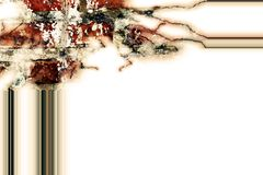 在白色纹理的框架典雅的马赛克背景 免版税库存图片