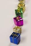 在白色背景下的几个礼物盒 库存图片