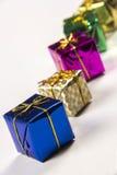在白色背景下的几个礼物盒 免版税库存照片