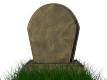 在白色背景中izolated的坟园 免版税图库摄影