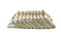 在白色背景事务的,银行的泰国钞票1000泰铢 免版税图库摄影