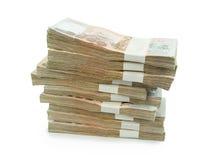 在白色背景事务的,银行的泰国钞票1000泰铢 免版税库存图片