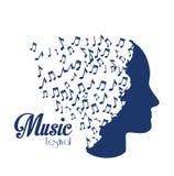 在白色背景传染媒介例证的音乐设计 皇族释放例证