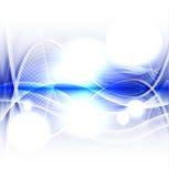 在白色背景传染媒介的抽象蓝色波浪 免版税库存照片