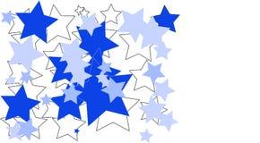 在白色背景做的蓝色和白色星 图库摄影