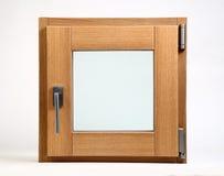 在白色背景关上的木窗口 免版税库存图片