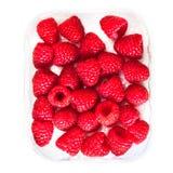 在白色背景关闭隔绝的成熟莓,宏指令 库存图片