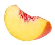 在白色背景切隔绝的桃子果子 免版税库存照片