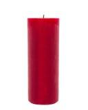在白色背景前面被隔绝的红色蜡烛 库存照片