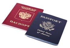 双重国籍-美国人&俄语 免版税库存照片