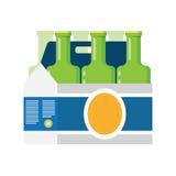 在白色背景啤酒隔绝的包装 免版税库存照片