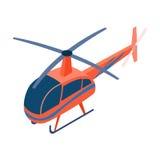 在白色背景在动画片样式的直升机象隔绝的 运输标志股票传染媒介例证 图库摄影
