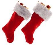 在白色背景在3d的圣诞节长袜隔绝的 图库摄影