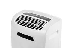 在白色背景或抽湿机隔绝的便携式的空调器 库存图片