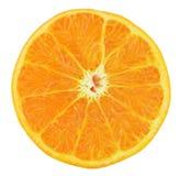 在白色背景新鲜的桔子隔绝的切片 免版税库存照片