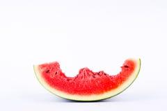 在白色背景果子食物的西瓜吃可口口味 免版税库存图片