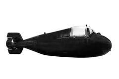 在白色背景特别转换操作的微型潜水艇隔绝的 免版税库存图片
