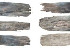在白色背景白色分类隔绝的标志木汇集集合 免版税库存图片